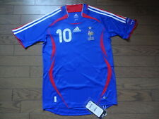 France #10 Zidane 100% Original Soccer Football Jersey Shirt S 2006 Home BNWT