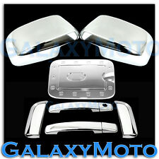 Chrome Mirror+4 Door Handle W/O PSG KH+GAS Cover for 08-12 Nissan PATHFINDER