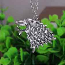New Fashion Vintage Game of Thrones Stark Direwolf Pendant Inspired Necklace