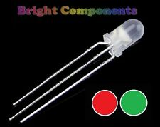 5 x Bi-Colour Diffused LED 5mm  - Red/Green - UK - 1st Class Postage
