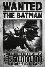 GQ678 Batman Arkham Origins Poster Video Game Picture WANTED THE BATMAN 24x32