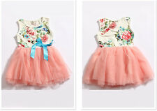 1pc Girl Kids Baby Children Pretty Floral Tops Dresses Tutu Clothing 12-18M Gift