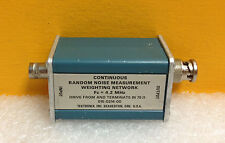 Tektronix 015-0214-00 4.2 MHz Fc, 75Ω Term, BNC, Random Noise Weighting Network