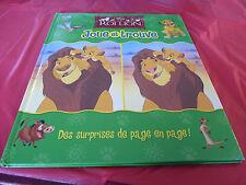 Hard Cover French Book Le Roi Lion Cherche et Trouve ! Walt Disney 2006