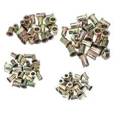 100 pcs Steel Aluminum Threaded Rivet Nut Inserts Rivnut M4/M5/M6/M8 X 25pcs