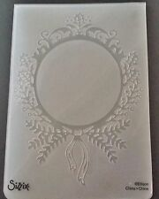 Sizzix Large Embossing Folder CHRISTMAS WREATH FRAME CIRCLE fits Cuttlebug