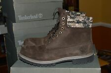 "NIB Timberland Men's 6"" Brown Camo Waterproof Boots Style #A113T Size 11.5"