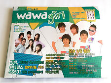 wawa girl KOREAN POP MAGAZINE 06/2009 NEW SEALED Girls Generation Big Bang 2PM