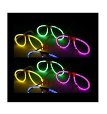 NEW 12 GLOWSTICKS GLASSES PARTY NEON RAVE FAVORS GLOW STICKS FREE SHIPPING