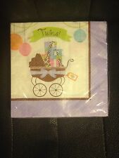 MODERN MOMMY BABY SHOWER  TWINS 16 Small Napkins MOMMY TO BE Party Supply