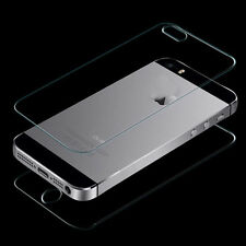 Front and Back Tempered Glass Film Screen Protector for iPhone 5 5G 5S Perfect