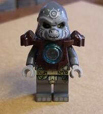 Lego Legends of Chima - Grumlo Figur grau Affe mit Rüstung und Maske Armor  Neu