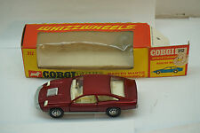 VINTAGE CORGI TOY CAR MARCOS MANTIS WHIZZWHEELS #312 WITH BOX DIECAST RED
