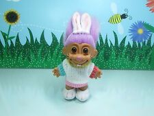 """EASTER  SWEATER BUNNY  - 5"""" Russ Troll Doll - VERY RARE"""