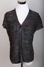 Jones New York Collection Rainbow Thread One Button Top Blouse Women's Size S