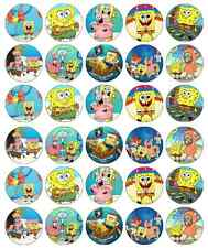 30 x SpongeBob Squarepants Cupcake Toppers Edible Wafer Paper Fairy Cake Toppers
