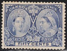 Canada 50c QV Diamond Jubilee, Scott 60, VF MH (note), catalogue - $500