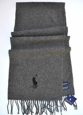 Polo RALPH LAUREN Men's LUXURY Business GIFT Big Pony WOOL NECK SCARF WRAP Italy