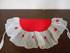 Vintage Apron - Shaped like a watermelon - cotton and organza?