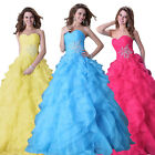 A-Line Quinceanera Formal Bridal Wedding Gowns Prom Cocktail Evening Party Dress