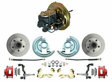 1967-1969 Camaro OE Style Power Brake Booster & Stock Disc Brake Kit, Red PC