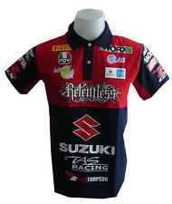 NEW SUZUKI RAC MOTORCYCLE SPORT RACING TEAM BIKER BLUE POLO SHORT T-Shirt Sz XL