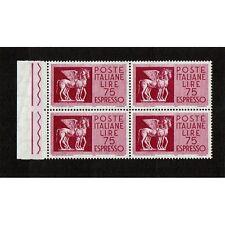 IT1784 - 1958 Espresso Lire 75 Cavalli Alati Quartina MNH/**