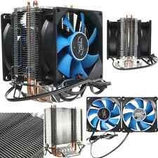 Dual Fan CPU Cooler Quiet Heatsink for Intel AMD AM2/AM2+/AM3 LGA775/1156/1155