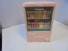Vintage Cragstan Battery Operated Tin Metal Toy Dish Washer Retro Pink Neat!