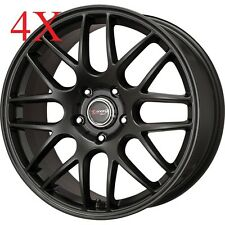 Drag Wheels DR-37 16x7 5x112 +40 cb66.56 Flat Black Rims For Mercedes Passat