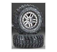 Traxxas Split Spoke Wheel& SoftKumho Tire(2): Slash 2WD FR, TRA5882R
