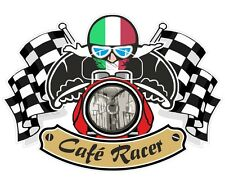 BANDIERA ITALIANA CAFE RACER TON UP CLUB bacino BOBCAT Retrò Casco Moto Adesivo
