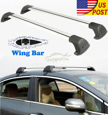 New 2x 100cm Top Luggage Cargo Cross Bar Roof Rack Carrier + Lock Kit Anti-theft