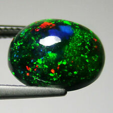 4.84 ct AWESOME GREEN RED MULTI COLOR FLASHING BLACK NATURAL ETHIOPIAN OPAL#1847