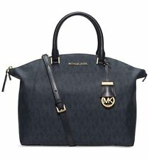 NWT MICHAEL Michael Kors Riley PVC Large Satchel Handbag Baltic Blue $368