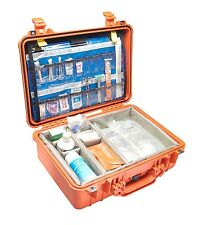 Orange Pelican 1500EMS Case. Comes with 2 TSA locks.