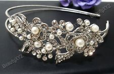 Rhinestone Crystal Bridesmaid Flower Girl Bridal Wedding Headband Tiara #2
