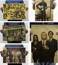 Antique Pop Music Rock Band Kraft Paper Stars Poster Pub Home Wall Decor