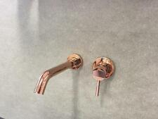 WELS round wall mixer set brass rose gold shiny tap mixer spout watermark new