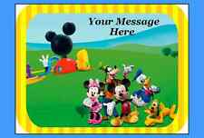 Mickey mouse club house edible Cake topper image icing FONDANT birthday, party