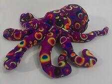 "Fiesta Inkster OCTOPUS Plush Stuffed Animal Tye Dye Colorful Fish Toy 12"" Squid"