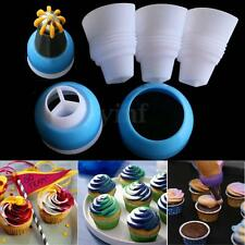 3 Color Icing Piping Bag Russian Nozzle Converter Coupler Cream Cake Decor Tool