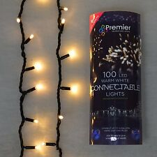 100 LED Connectable Lights Premier 8m Fairy String Wedding Party Christmas