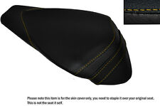 YELLOW STITCH LEATHER CUSTOM FITS APRILIA RSV4 R 1000 09-15 REAR SEAT COVER