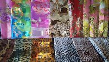 Joblot 24 Pc Imitación Seda Bufanda Bufandas Animal Print al por mayor 100x100 Cm Lote M