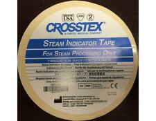 "Crosstex 3/4"" x 60 yds Autoclave Sterilization Indicator Tape / Tattoo / Dental"