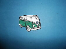 `VW CAMPER VAN GREEN` SEW OR IRON ON PATCH