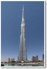 Burj Khalifa - Tallest Building in World!  Skyscraper - NEW Architecture POSTER