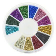 DIY Micro Beads Nail caviar Manicure Decoration Nail Art Materials  12 Color