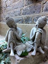 Two Beautiful Detailed Kneeling Buddhas Statue For The Home Or Garden. From Sius